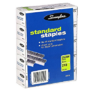 Swingline Standard Staples - 5 Boxes of 5,000 Staples