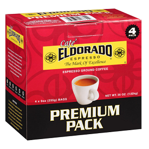Cafe Eldorado Espresso Ground Coffee (9 oz., 4 pk.)