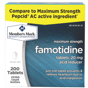 20 mg Famotidine Acid Reducer (200 ct.)