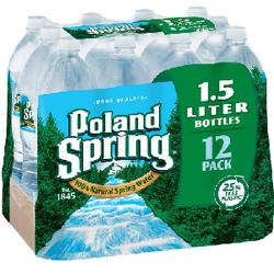 Poland Spring 100% Natural Spring Water (1.5 L bottles, 12 pk.)