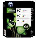 HP 901 Original Ink Cartridges,Tri-Color (3 pk., 700 Page Yield)