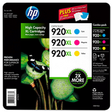 HP 920XL High Yield Original Ink Cartridge, Cyan/Magenta/Yellow (3 pk., 700 Page Yield)