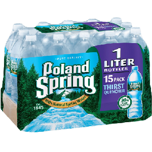 Poland Spring 100% Natural Spring Water (1 L bottles, 15 pk.)
