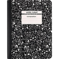 Marble Cover Composition Notebook, Wide Rule, 9 3/4 in X 7 1/2 in, 100 sheets