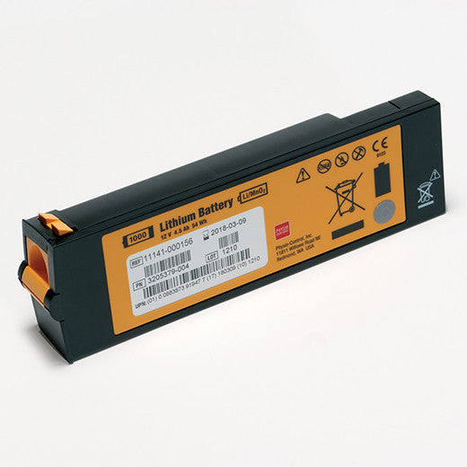 Physio-Control LIFEPAK® 1000 Defibrillator Non-Rechargeable Replacement Battery