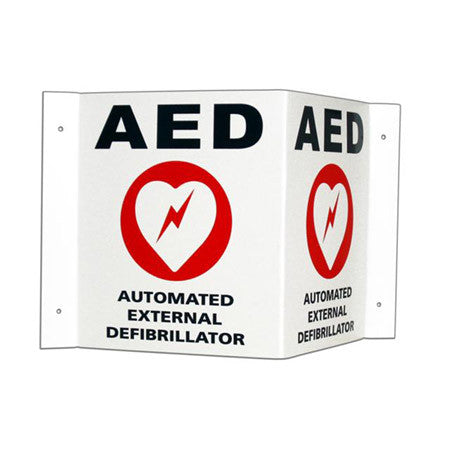 Cardiac Science 3-D AED Wall Sign & Decal
