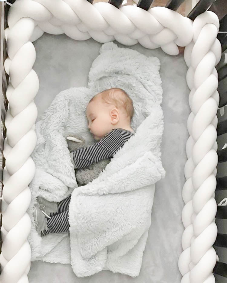 Double Braided Crib Bumper/Bed Bolster - See more Knot Pillows & Cushions at JujuAndJake.com
