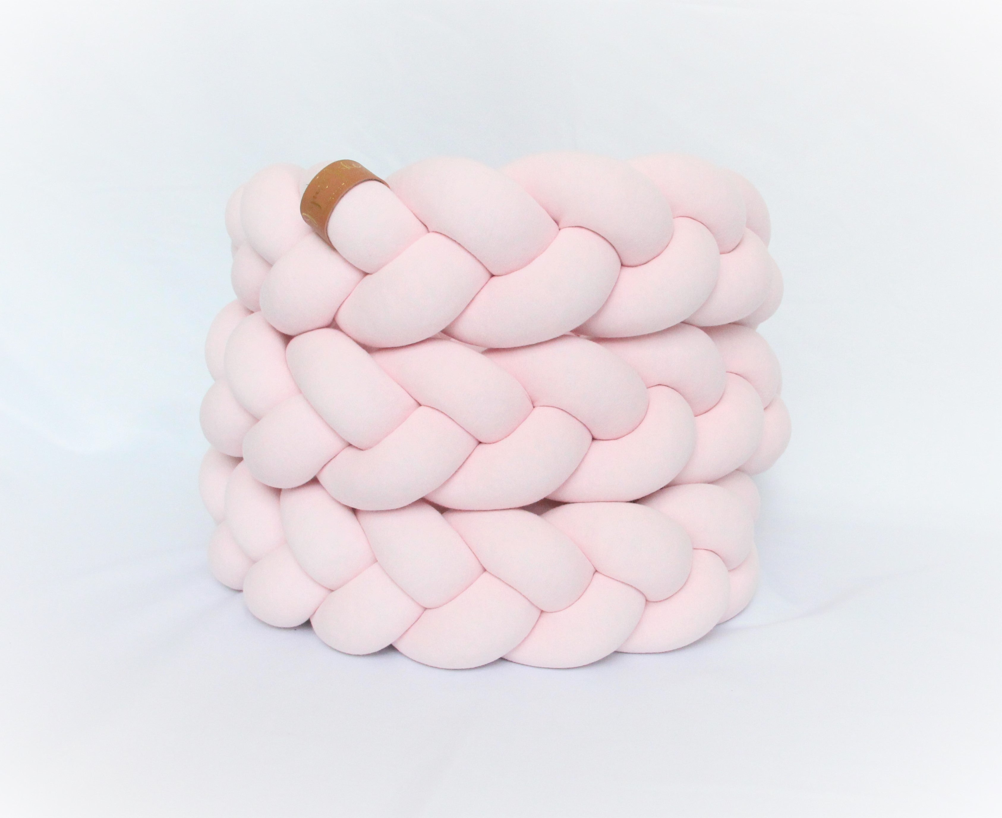 | Braided Crib Bumper / Bed Bolster - See more Braided CribBaby Pink | Bumpers & Cushions at JujuAndJake.com
