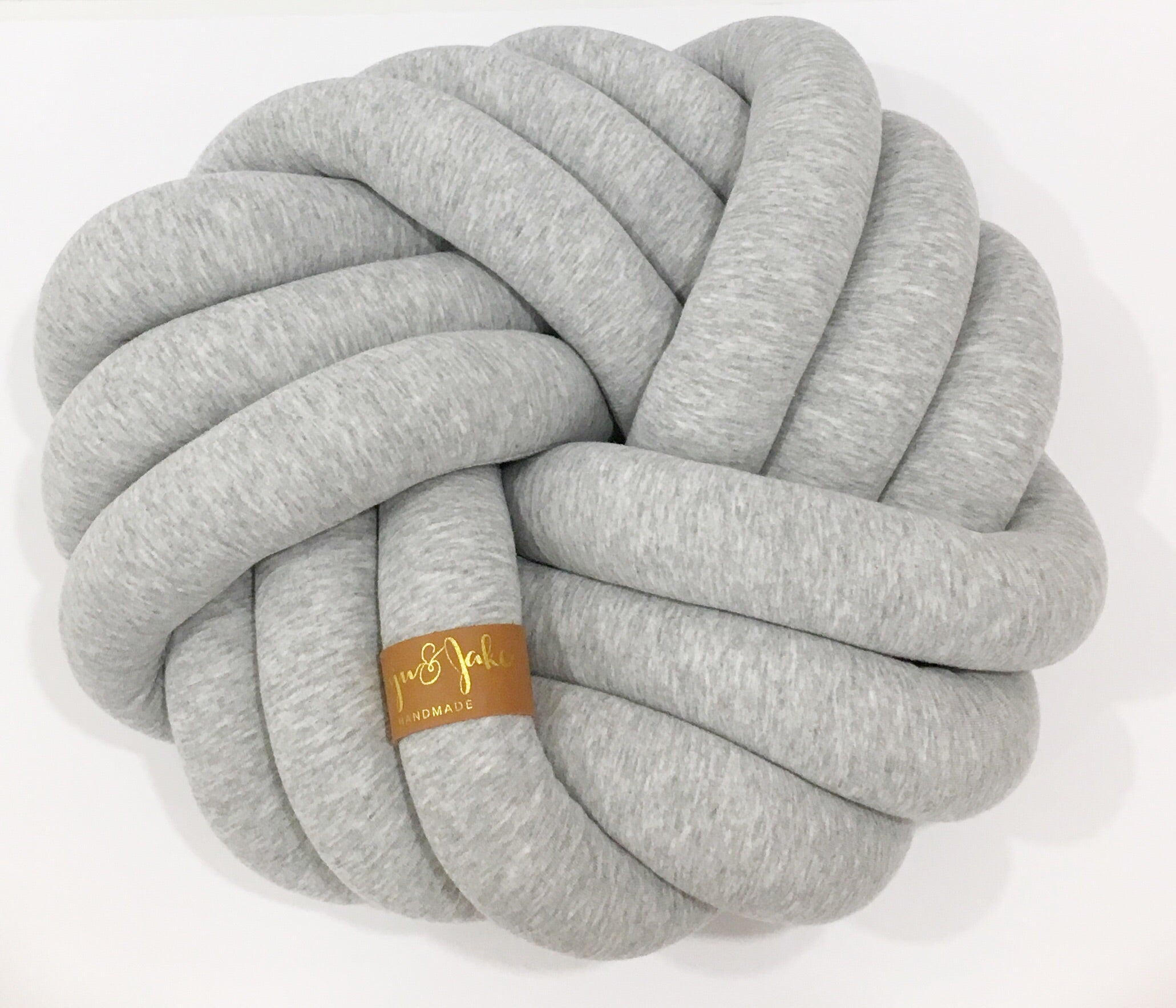 Light Grey | Kids Floor Knot Cushion / Floor Pillow - See more Kids Knot Pillows & Cushions at JujuAndJake.com