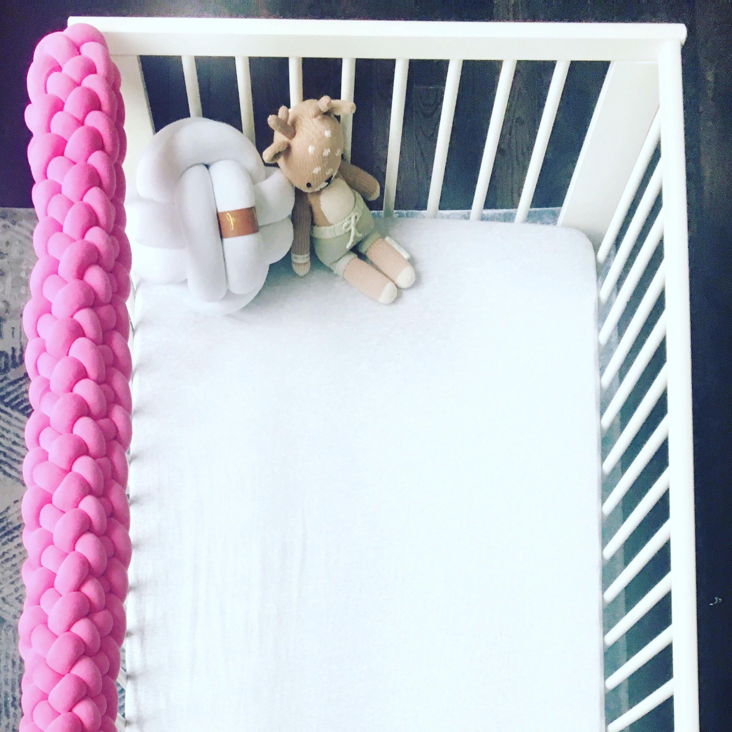 Braided Crib Rail Cover