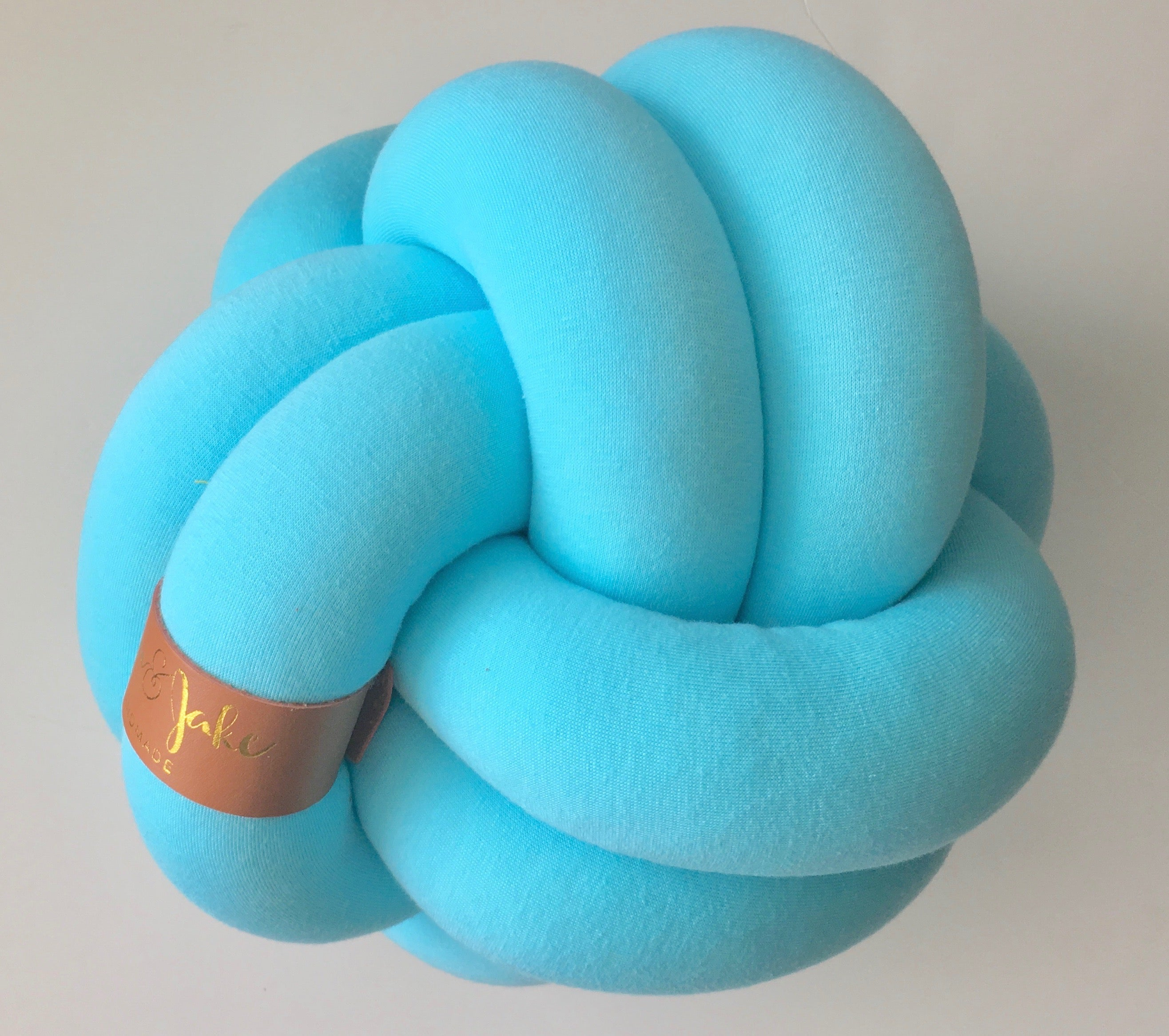 Aqua | Medium Sphere Knot Pillow - See more Knot Pillows & Cushions at JujuAndJake.com