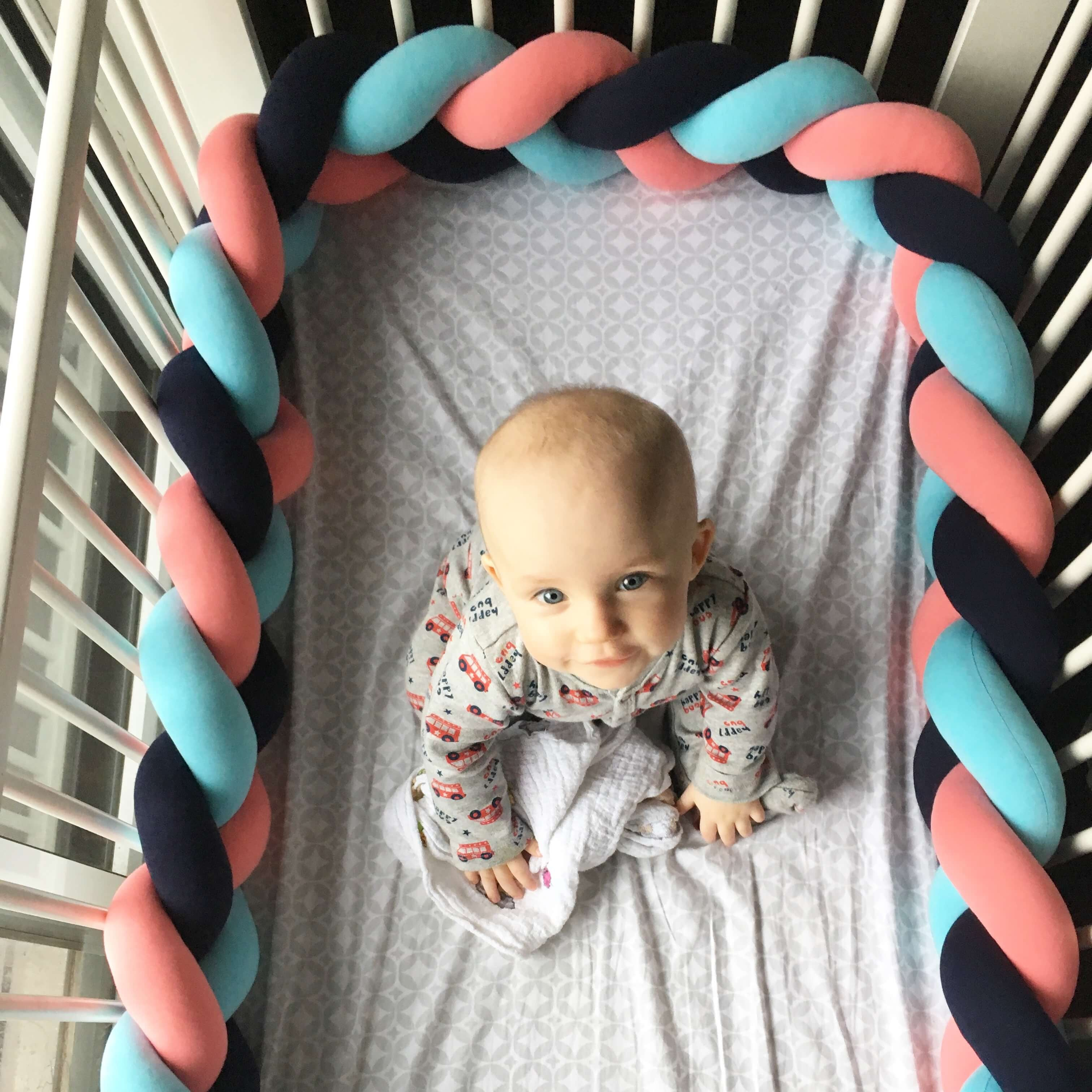 Braided Crib Bumper/Bed Bolsters