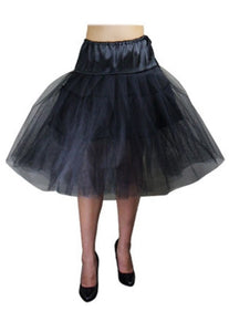 black petticoat Plus Size Retro 50s Vintage Netting