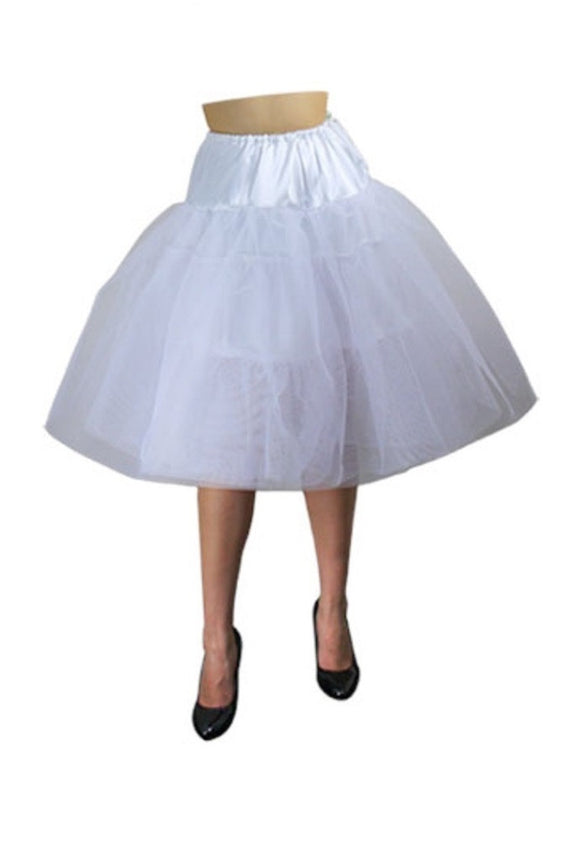 White petticoat Plus Size Retro 50s Vintage Netting