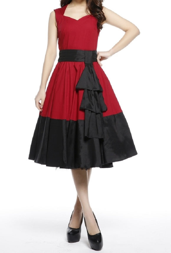 red black cascading swag 50s retro rockabilly pinup pin up vintage 50s dress plus size