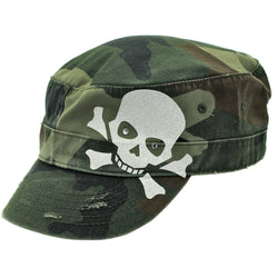 Skull Army Camo Camouflage Cadet Hat Cap