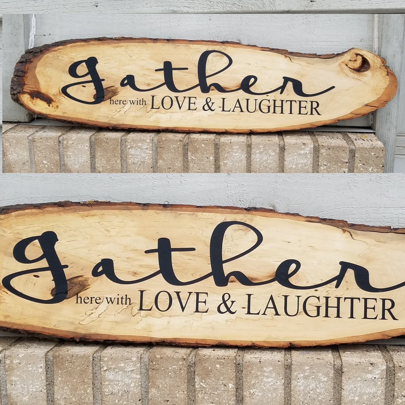 Gather Here With Love Amp Laughter Handcrafted Raw Edge