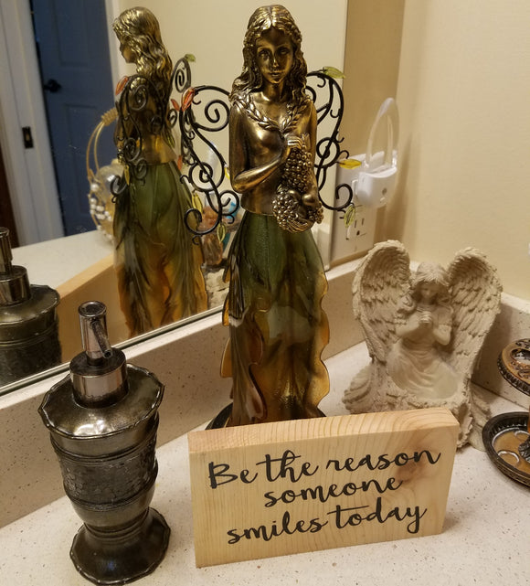be the reason someone smiles today inspirational quote table top wood sign country inspirational religious humorous pine rustic home decor gift christian funny sunday school teacher youth leader pastor rustic cabin farmhouse