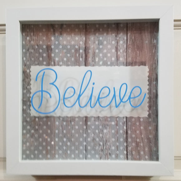 believe wall art gray white turquoise farmhouse barnwood sign picture wall art framed home decor county rustic cottage chic
