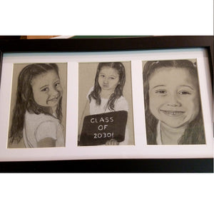 Custom Charcoal Drawing Picture Artwork From Your Photo