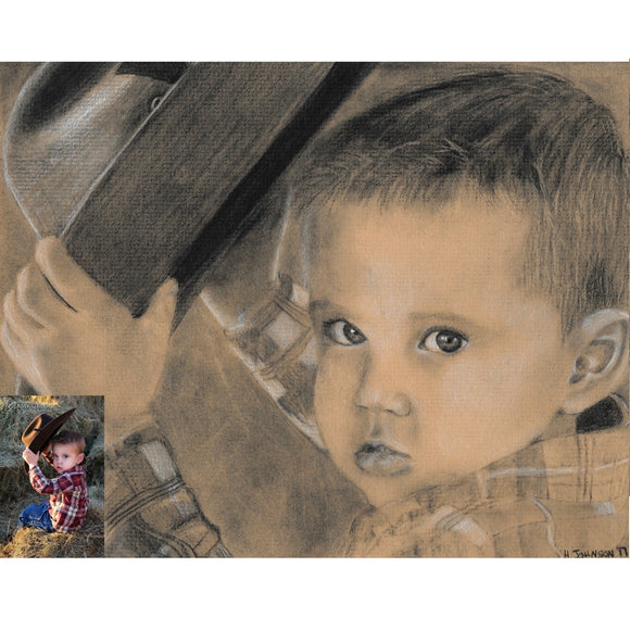 Custom Charcoal Artwork (from your picture(s))