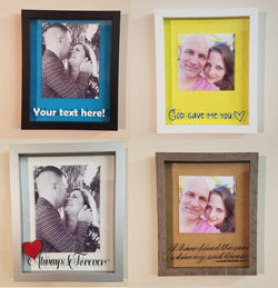 Custom Romantic Framed Shadow Box - I use your picture, your choice of words, your colors and your frame choice!