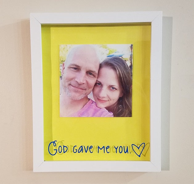 Custom Romantic Framed Shadow Box We Use Your Picture Choice Of
