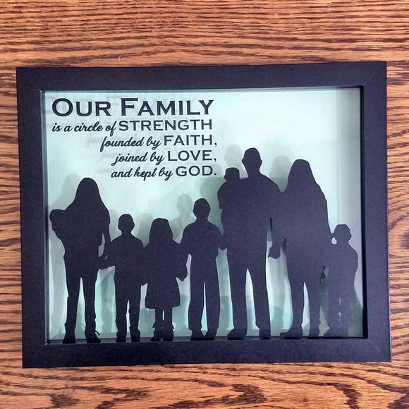 custom silhouette handmade unqiue family gift romantic couple mom dad wife