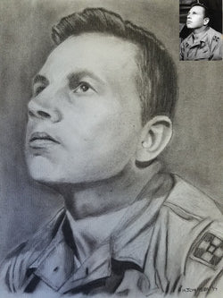 Military Custom Charcoal Artwork (from your picture(s)) MILITARY PRICING