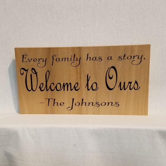 Custom Personalized Wood Wall Art Sign Home Decor Unique Gift Wedding Anniversary Welcome Cabin Family Memories
