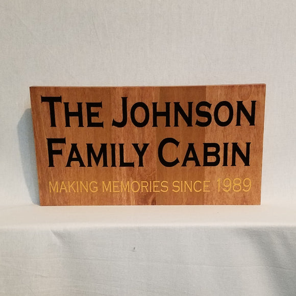 Custom Personalized Wood Wall Art Sign Home Decor Unique Gift Wedding Anniversary Proposal Celebration Award Cabin Family Memories