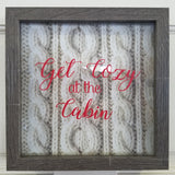 get cozy at the cabin sweater home decor winter rustic lake mountain wall art franed picture