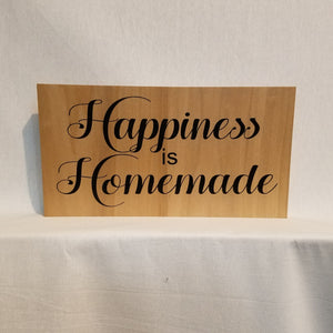 Happiness is homemade sign wall art gift wood mom grandma kitchen cooking gift home decor