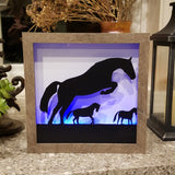 Cows Handcrafted Framed Lightbox Wall Art or Table Top with Remote Control