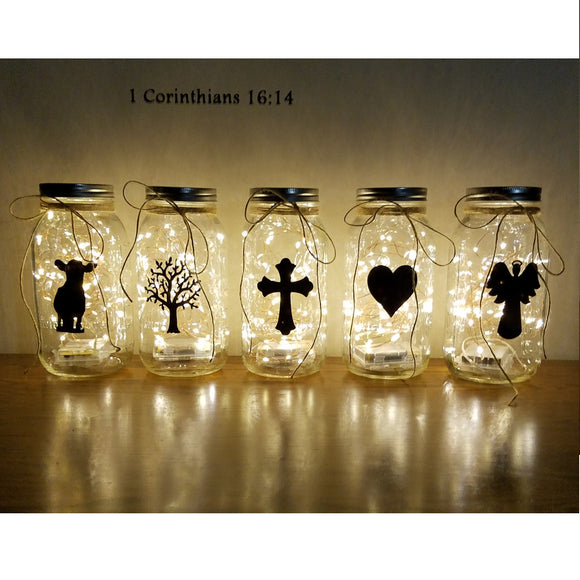 Custom Silhouette Large Light Jars Decor Night Light Personalize