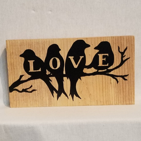 love birds inspirational quote table top wood sign country inspirational religious humorous pine rustic home decor gift christian funny sunday school teacher youth leader pastor rustic cabin farmhouse