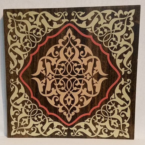 Mandala Handcrafted Poplar Wood Wall Art or Table Top Sign