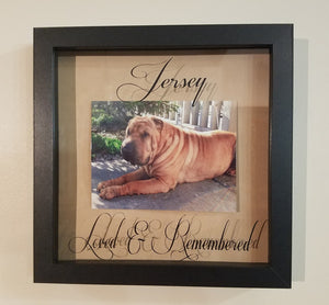 Custom Personalized Pet Memorial Framed Shadow Box Dog Cat Rabbit Bird Horse Animal Custom Photo Keepsake