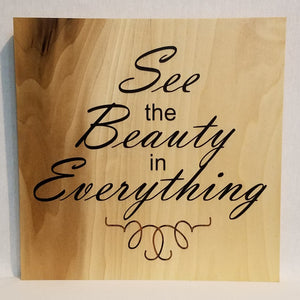 see the beauty in everything wood wall art sign natural rustic country living