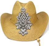 Cowboy Hat with Large Rhinestone Applique