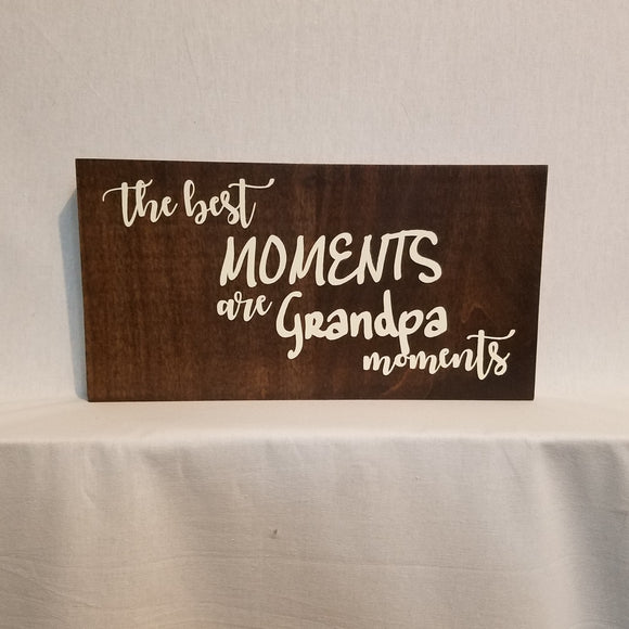 Grandpa Gift wood wall art sign home decor