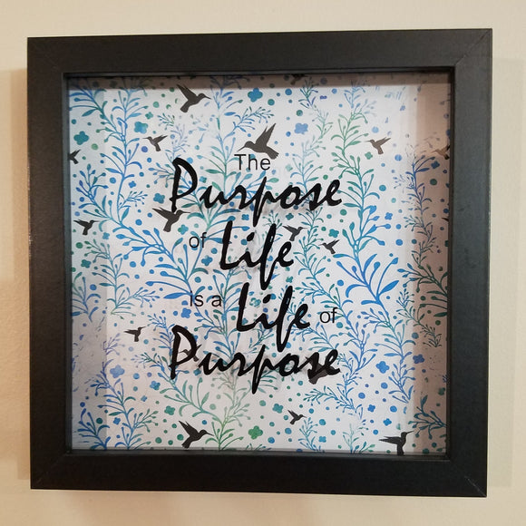 the purpose of life is a life of purpose turquoise blue green birds wall art home decor customizable personalize