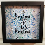 the purpose of life is a life of purpose turquoise blue green birds wall art home decor