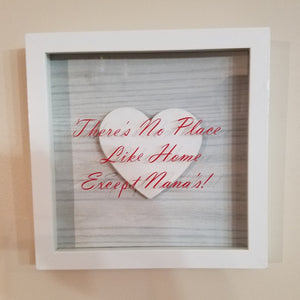 Nana Grandma There's no place like home except nana's home decor gift mother's day gift wall art framed picture customizable