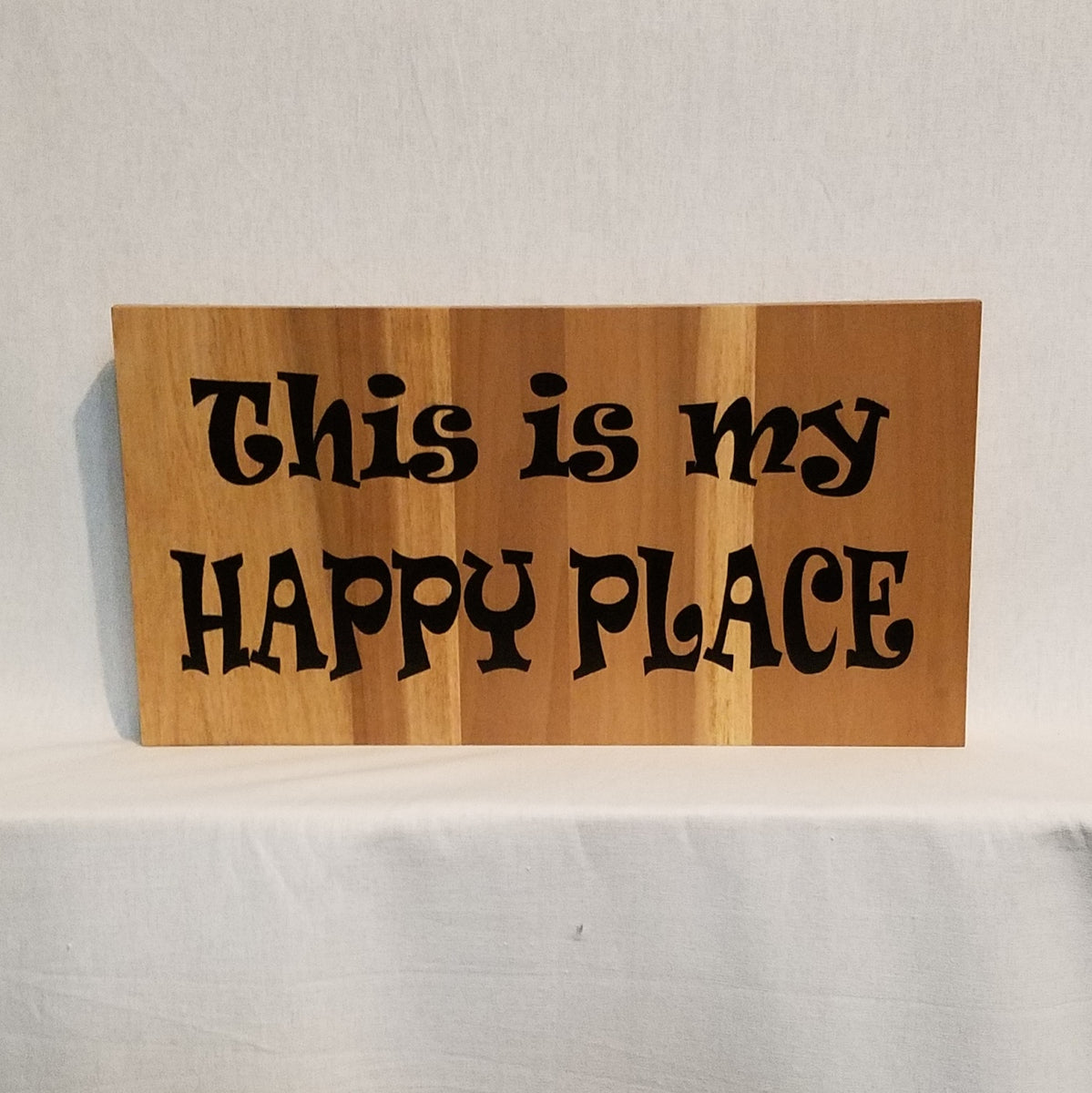 This is my happy place handcrafted poplar wood wall art or table top s kelissa shea