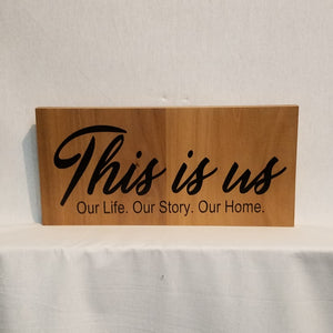 this is us our life our story our home wood wall art sign home decor family inpirational