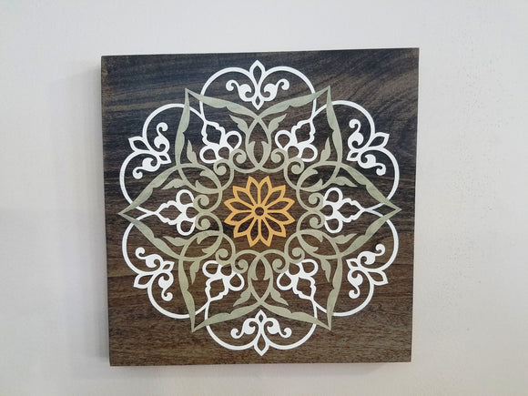Wood Mandala Wall Art Hanging Picture
