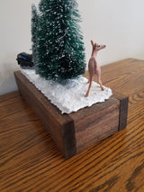 Welcome to our Winter Wonderland Scene and Wood Tray (handmade)