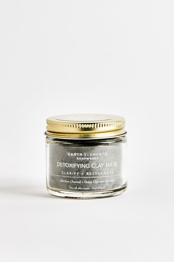 DETOX FACIAL MASK - BAMBOO CHARCOAL + SEA CLAY + SPIRULINA