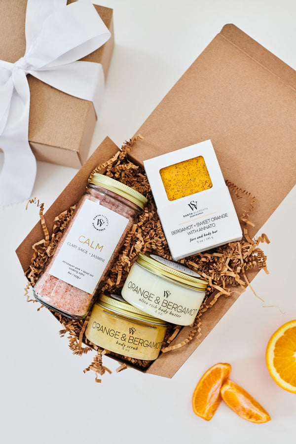 Calming Orange & Bergamot Gift Set - Earth Elements Soapworks